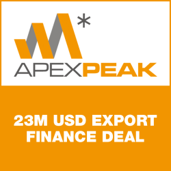 23m USD export finance deal with ApexPeak